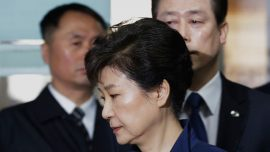 Former South Korean president completes testimony