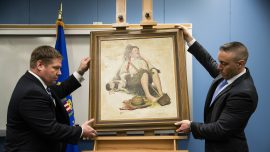 Stolen Norman Rockwell painting returned to family after 40 years