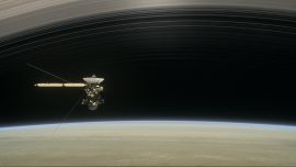 Spacecraft gets inside Saturn's rings in space exploration first