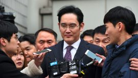 Court trial begins for Samsung Group chief Jay Y. Lee