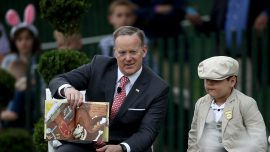 Sean Spicer spreads Easter joy at White House event