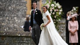 Pippa Middleton arrives at church before her wedding