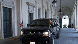 President Trump leaves G-7 summit venue in Italy's Taormina