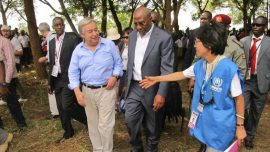 United Nations secretary-general calls for peace in South Sudan