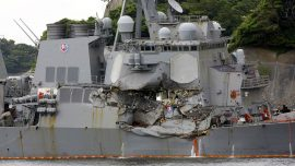 Destroyer's collision with container ship raises questions