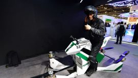 Dubai Police Unveil Flying Motorcycle and Smartbike at GITEX Trade Show