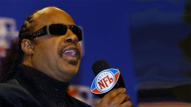 Stevie Wonder Kneels While Playing National Anthem to Protest Racism