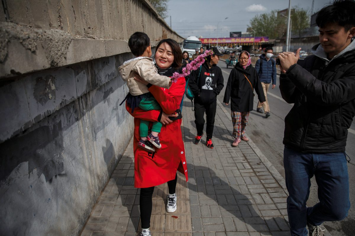 Li Wenzu, wife of detained Chinese rights lawyer Wang Quanzhang