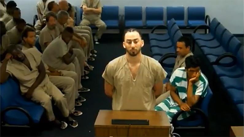 John Whelden appeared before a judge via video link on June 11. (Sun-Sentinel screenshot)