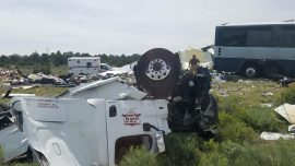 Truck Crashes Into Bus, 4 Dead in New Mexico