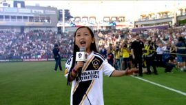 7-Year-Old Girl's National Anthem Blows Crowd Away at the MLS Game