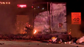 Truck Carrying Axe Body Spray Catches Fire, Cans Explode