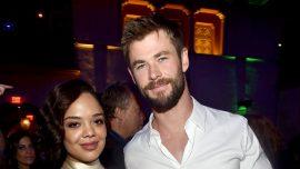 Photos of Chris Hemsworth and Tessa Thompson Show 'Men In Black' Spinoff Set