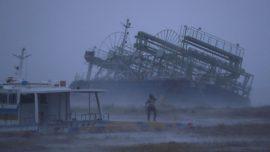 Powerful Typhoon Bears Down on Flood-Battered Japan
