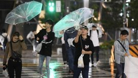 Powerful Typhoon Kills Two, Snarls Transport for Thousands in Japan