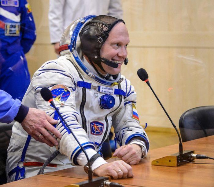 Oleg Artemyev at a press conference