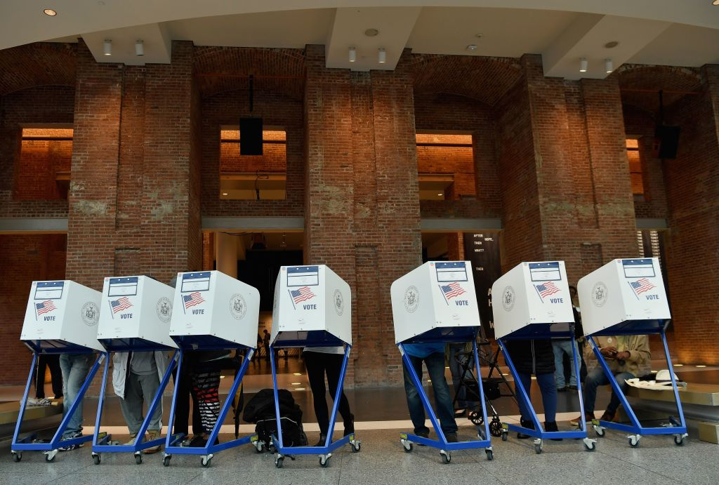 Brooklyn Museum polling station in New York City midterm election