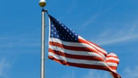 Good Samaritan in Tennessee Folds and Returns American Flag Blown Off Pole