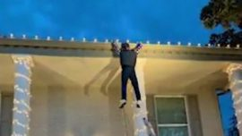 Christmas Decorations Featuring Dummy Fool Passerby in Texas