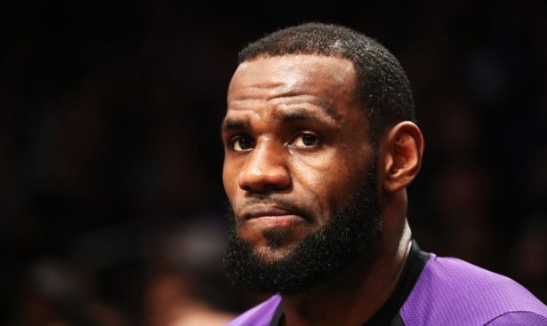 LeBron James #23 of the Los Angeles Lakers