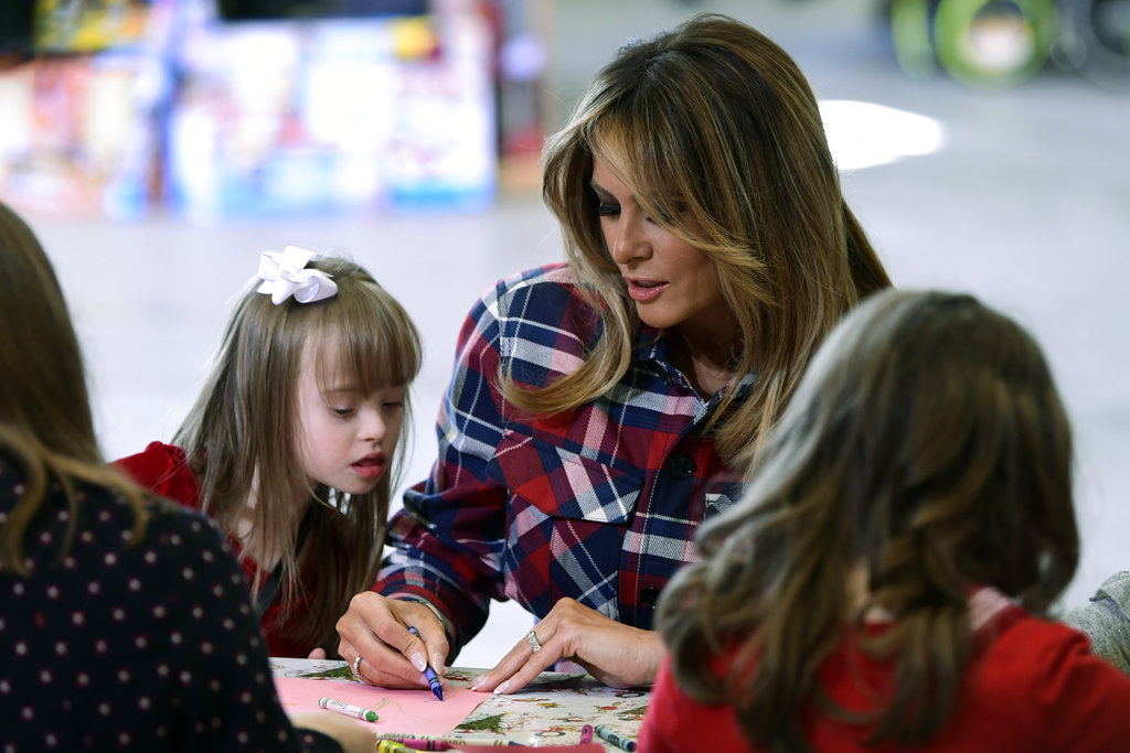 Melania Trump at toys for tots