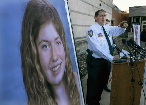Barron County Sheriff Chris Fitzgerald speaks during a news conference about 13-year-old Jayme