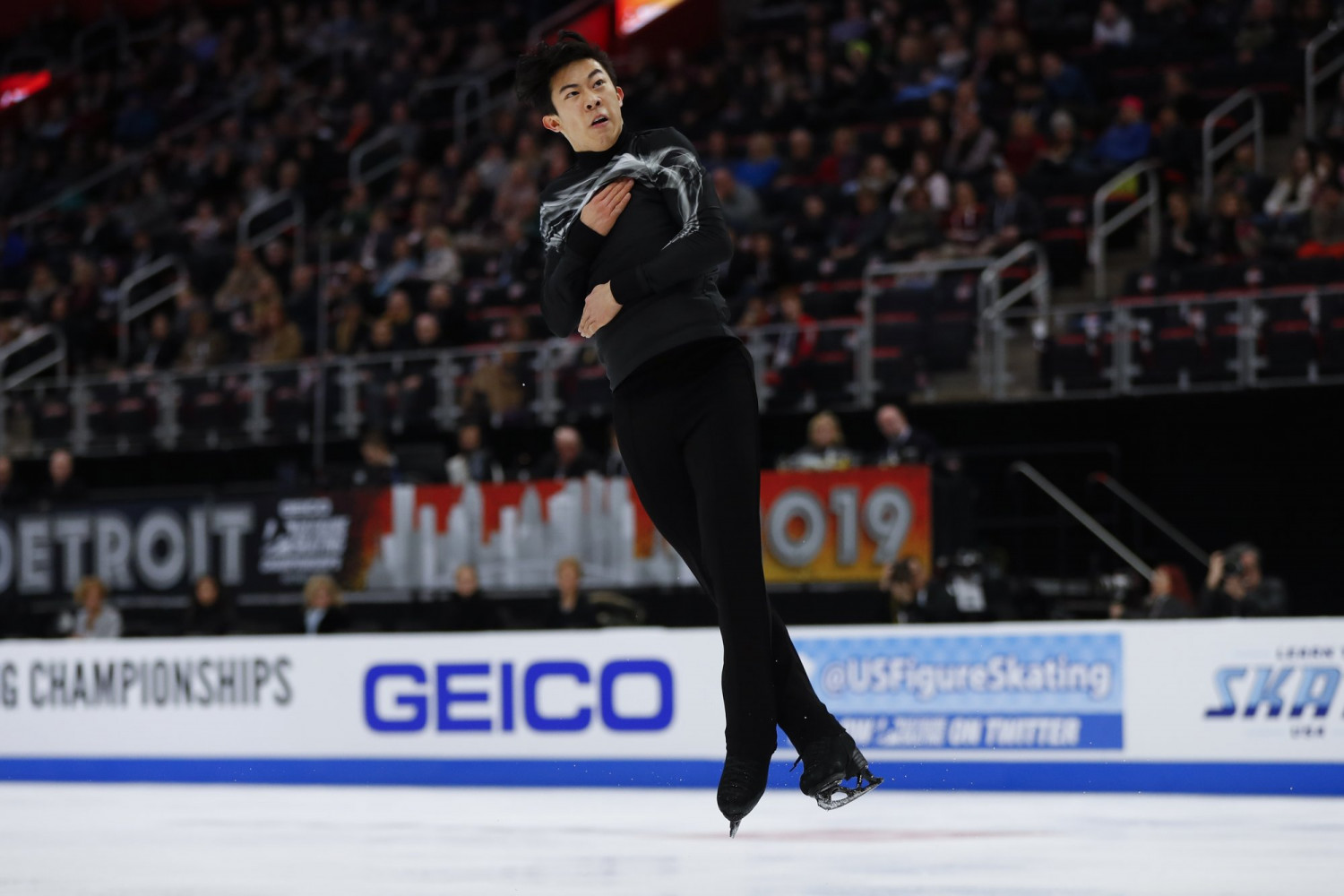 Figure Skating Chen Wins Third Straight National Title With Ease