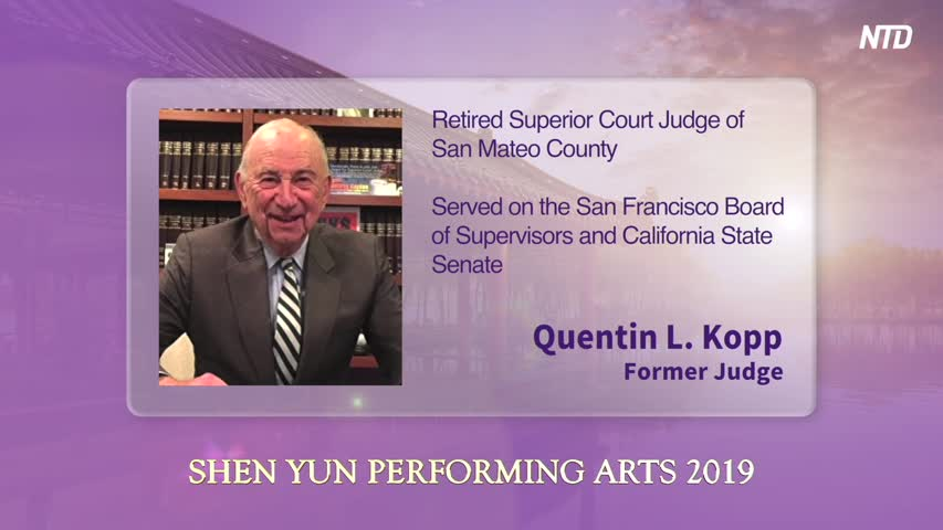 Retired Judge Quentin L. Kopp Attends Shen Yun for the Fifth Time