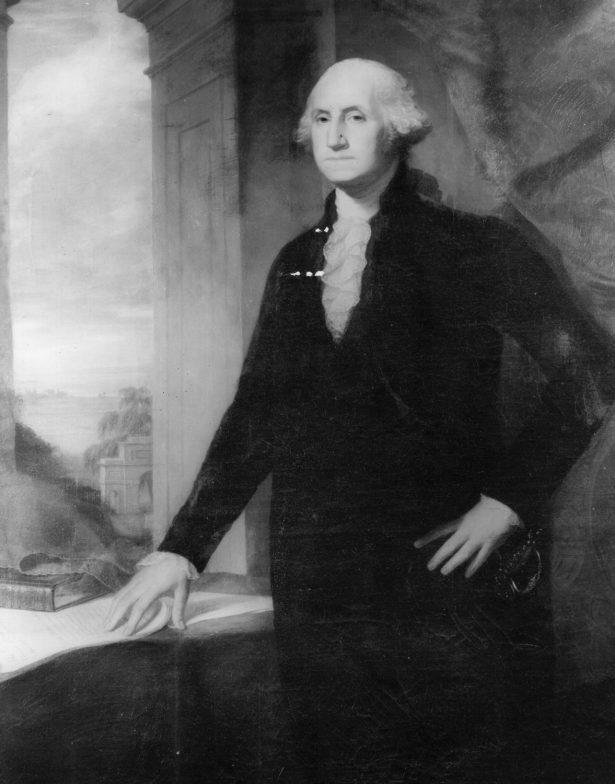photo of a painting of george washington
