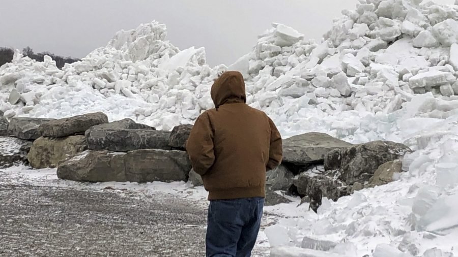 High Winds Cut Power, Inundate Lake Erie Shoreline With Ice