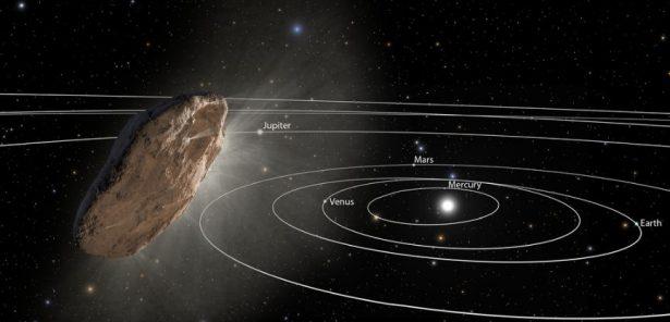 artist's impression of Oumuamua