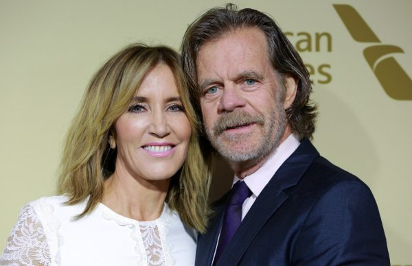 Felicity Huffman (L) and William H. Macy attend The Hollywood Reporter