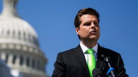 Woman Pleads Guilty to Throwing Drink at Rep. Matt Gaetz, Faces Jail Time