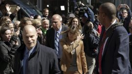 Videos Show Lori Loughlin Arriving at Courthouse to Face Judge