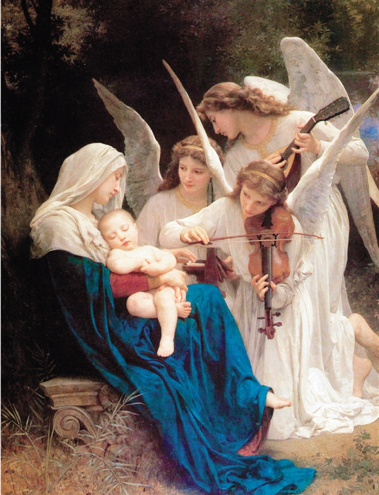 Song of the Angel (1881) by William-Adolphe Bouguereau