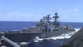 US and Russian Warships Nearly Collide in the Pacific