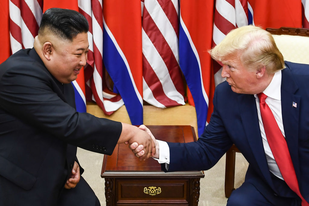 Trump and Kim in Peace House