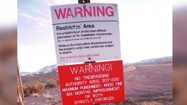 Despite Millions Pledging to Storm Area 51, Only a Few Dozen Make It to the Gate