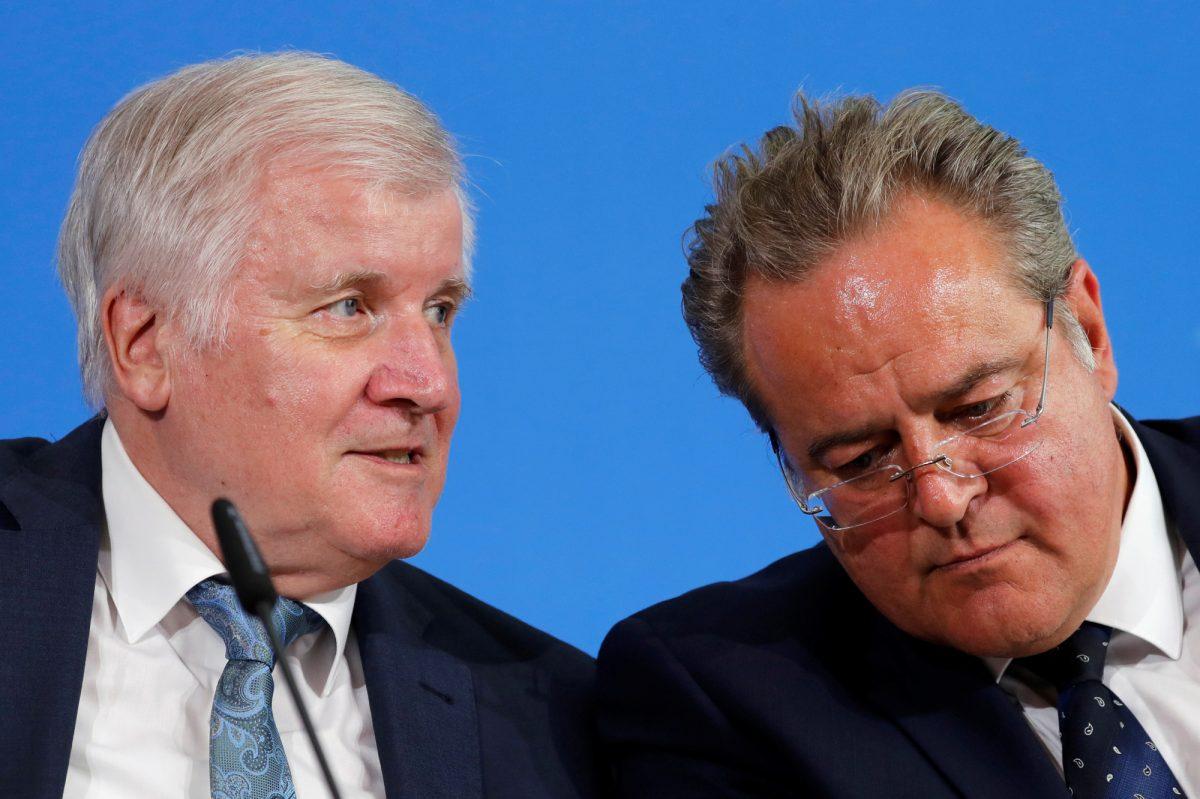 German Interior Minister Horst Seehofer and Dieter Romann