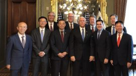 Pence Meets With Representatives of Religious Groups Persecuted in China