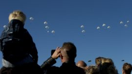 Parachutists Jump Over Dutch Heath to Mark WWII Operation