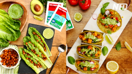 Chlorella Crispy Tacos & Chickpea Lettuce Wraps