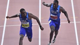 Coleman Wins Gold in Men's 100 After Dodging Ban