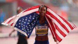 American Dalilah Muhammad Breaks Own World Record to Win 400m Hurdles