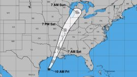 Tropical Storm Olga Will Bring Rain to Central Gulf Coast