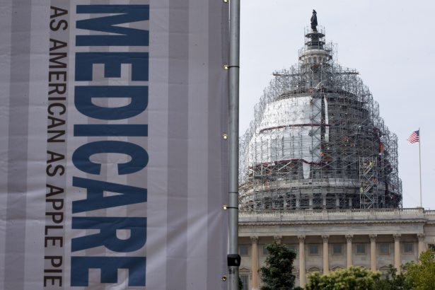 a sign supporting Medicare