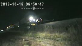 Dramatic Video Shows Trooper Rescuing Man From Path of Oncoming Train