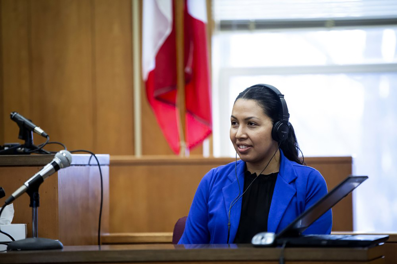 Alejandra Cervantes Valle, an aunt of Cristhian Bahena Rivera, testifies.