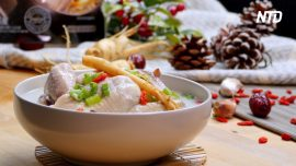 Healthy and Nutritious Ginseng Chicken Soup (Samgyetang)
