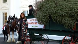 First Lady Melania Trump Welcomes 2019 White House Christmas Tree
